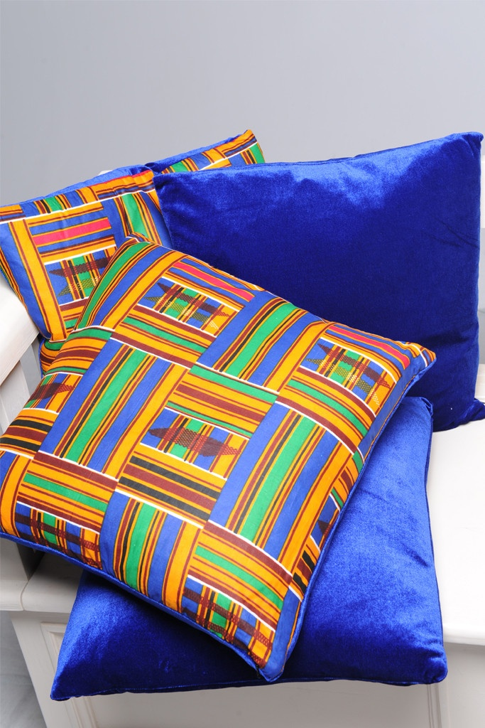 luxurious kente print cushion set true fabrics inspiration pinterest. Black Bedroom Furniture Sets. Home Design Ideas