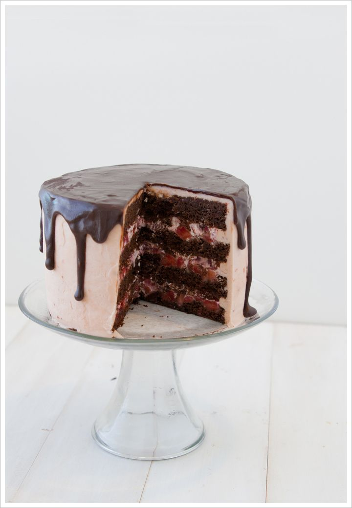 Strawberry + Chocolate Cake from Matchbox Kitchen