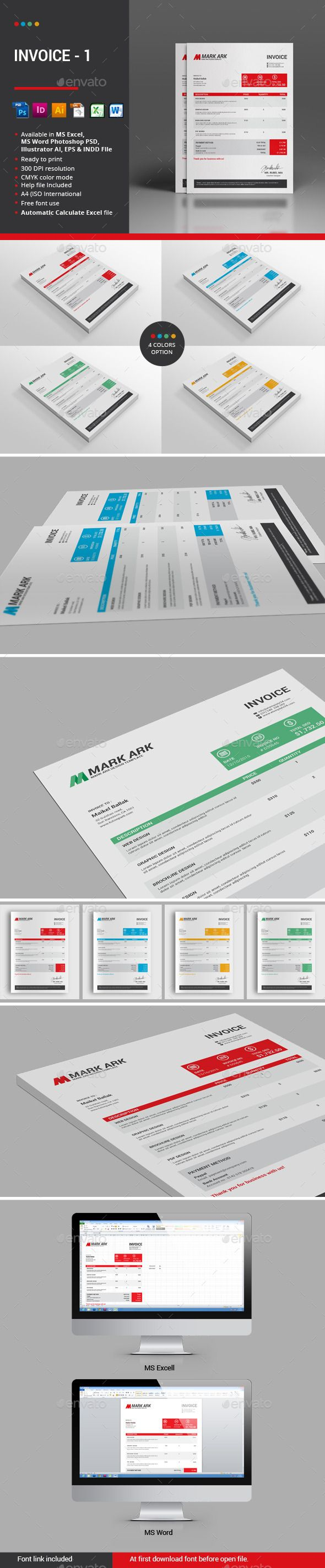 How To Make A Invoice In Excel 16 Best Excel Templates Images On Pinterest  Stationery Templates .