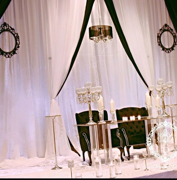 White and black themed decor