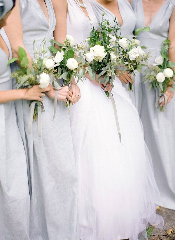 powder blue bridesmaids' gowns // photo by Anna Page Photography // http://ruffledblog.com/english-inspired-milwaukee-wedding