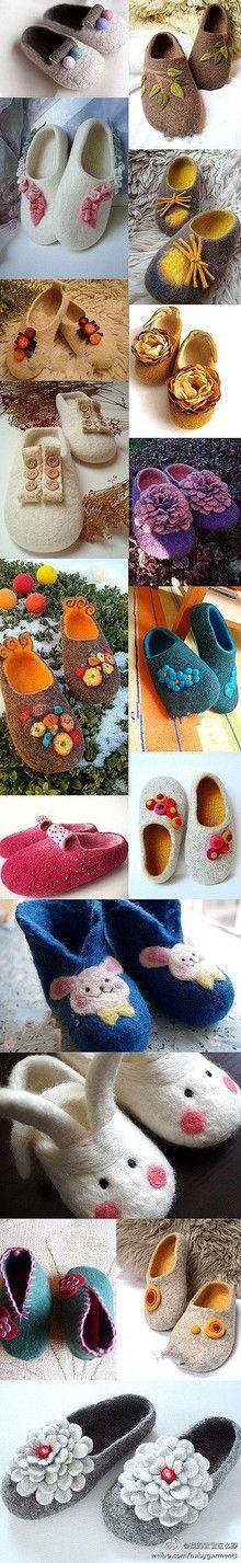 cute felt shoes