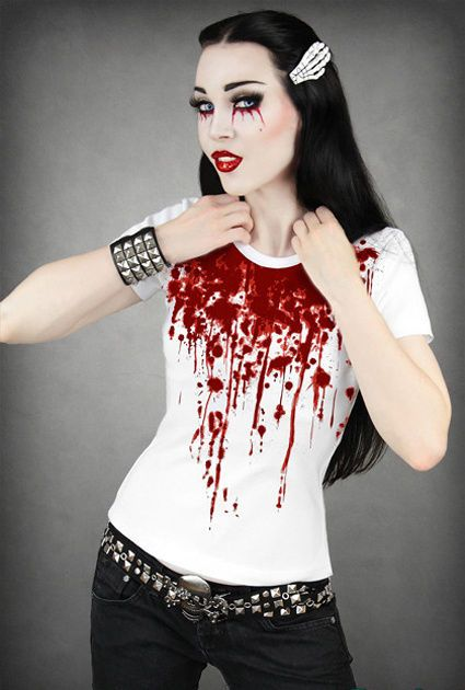 how to draw blood splatter on clothes