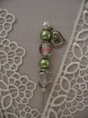 Unique 3 Decorative Stick Pin Embellishment by TheLegacyContinues, $3.95
