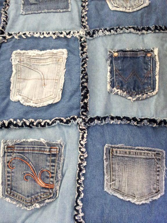 Before Photo Pocket Denim Rag Quilt The Great Design