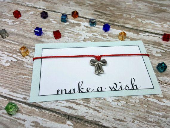Bow Bow Bracelet Bow Jewelry Bow Wish Bracelet by MatildaAugust