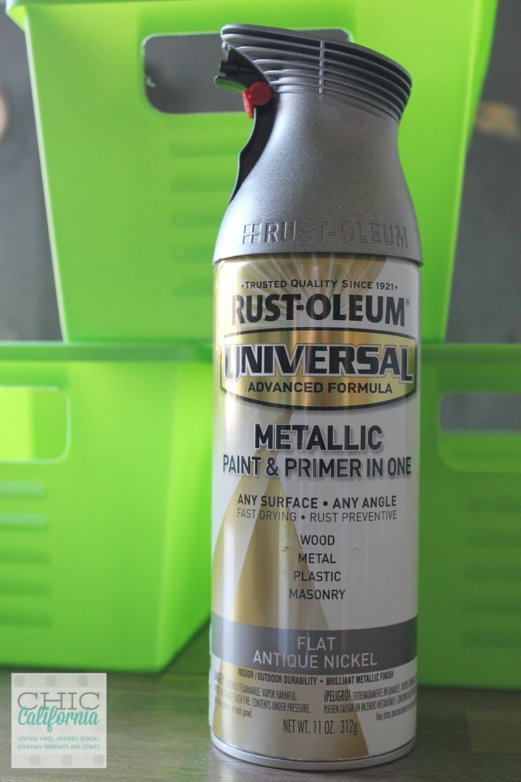 Dollar Store DIY  plastic bins sprayed with Rustoleum Flat Antique nickel-awesome! could use all around the house, laundry, in the closet