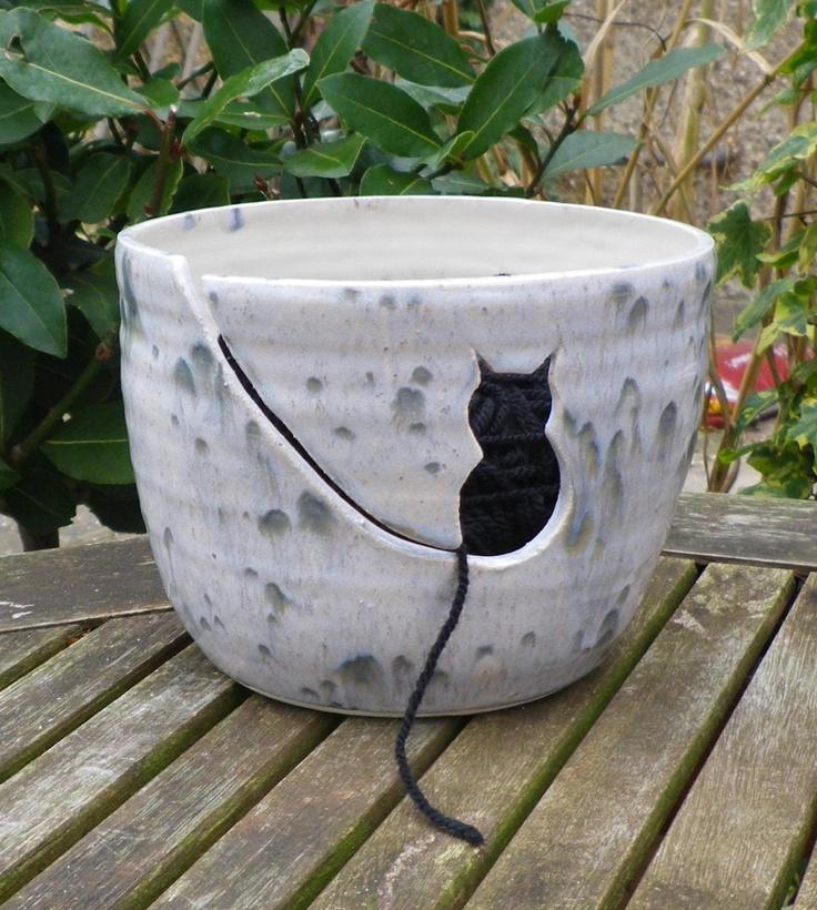 Knitting Bowl Uk : Yarn bowl knitting or crochet wool hand thrown ceramic