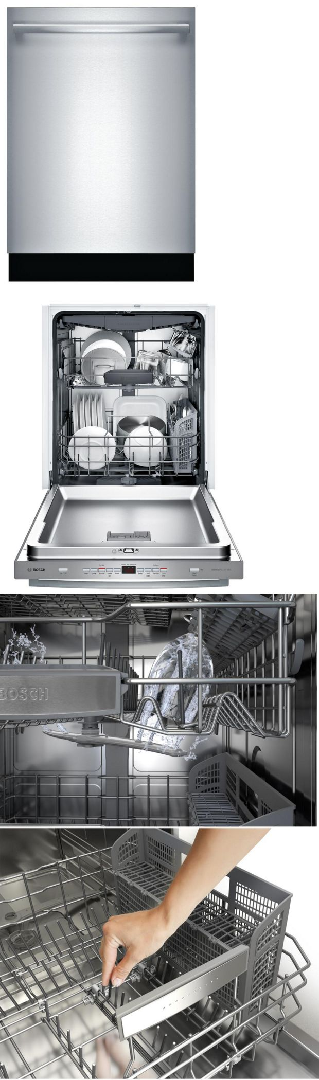 Dishwashers 116023 Bosch Shxm63w55n 300 Series 24 Inch Built In Fully Integrated Dishwasher New Buy It Now Fully Integrated Dishwasher Bosch Dishwasher
