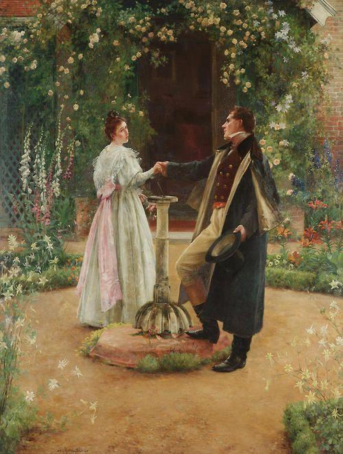 """♥ """"For Always""""- Também conhecido como: """"Two Country Lovers"""" (1890) → Walter Dendy Sadler (1854-1923)."""