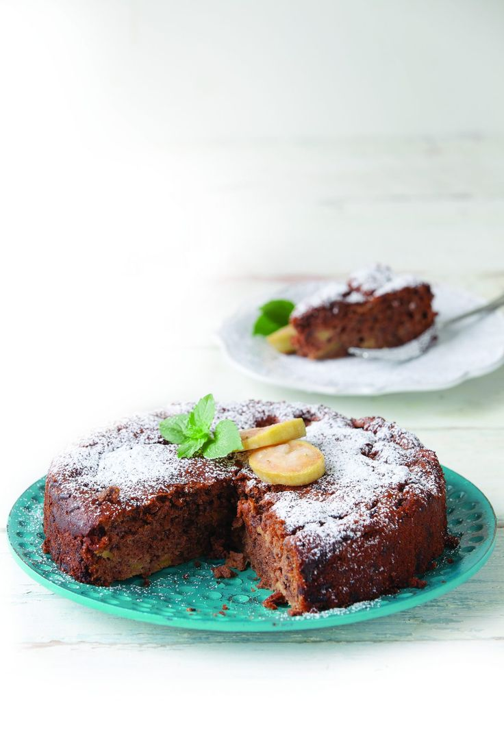 Chocolate feijoa cake