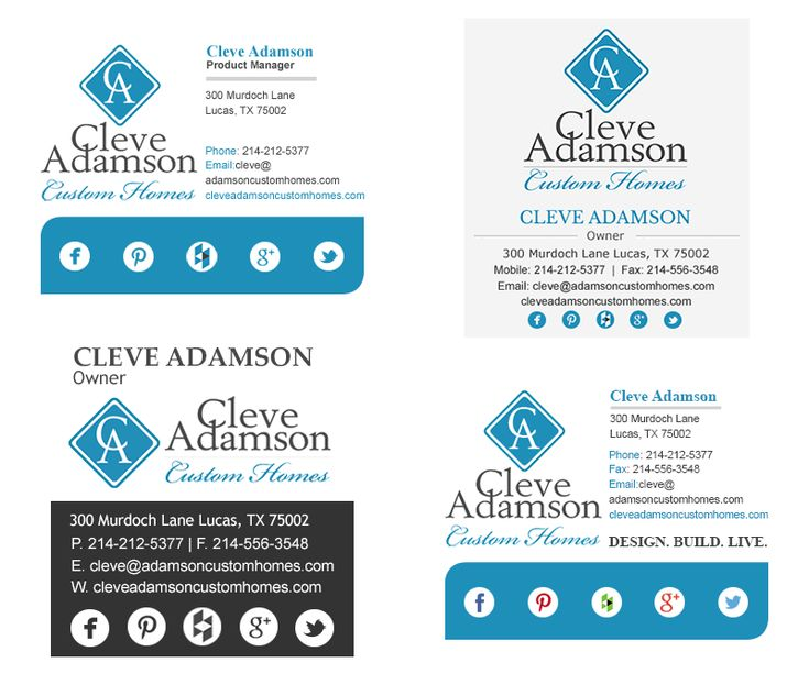 Cleve Adamson Email Signatures - Instant Entity | Professional HTML Email Signatures