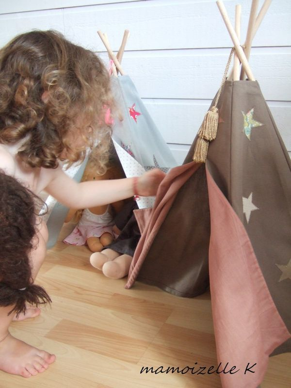Forget dollhouses...I am going to make Cadence tepees!