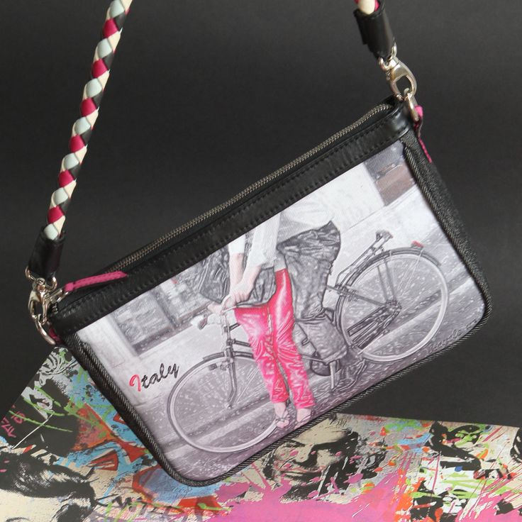 self designed bag, bicycle no.1 pink