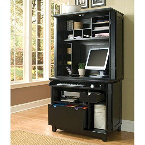project organized home office armoire. Home Styles Arts And Crafts Compact Office Armoire Desk Hutch Project Organized