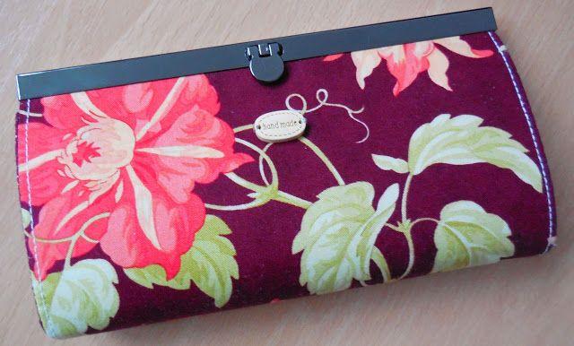 Moje malé radosti.....: Rámečková peněženka...kdysi dávno jsem si šila pen...