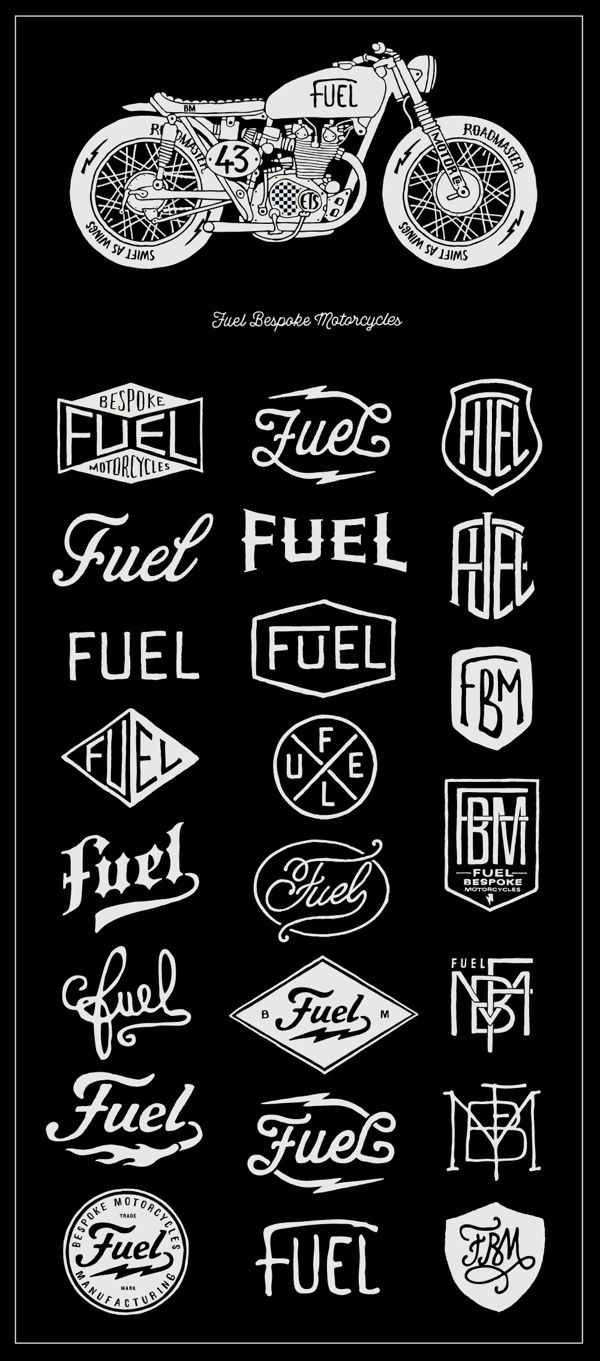 Fuel Motorcycles by BMD Design. So many good ways to work a logo
