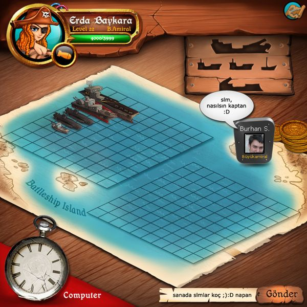 battleship game by erda baykara, via Behance