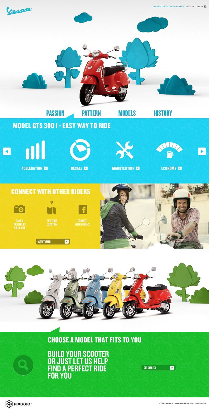 Vespa / #website #colour / Rodrigo Manfredi