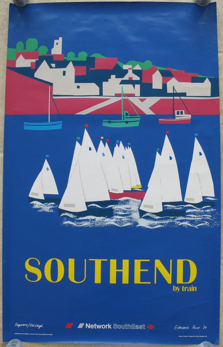 Original Railway Poster Network SouthEast Southend by Train, by Edward Pond. Sold by originalrailwayposters.co.uk