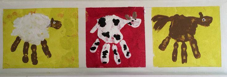 Handpainting farm animals