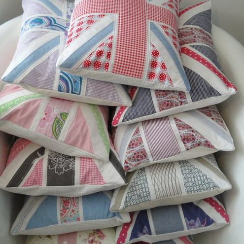 Union Jack handmade cushions by Gemma Payne