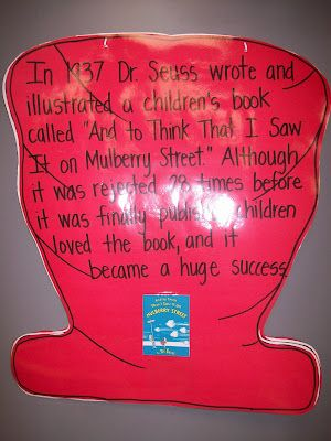 first grade blog...I share this fact with my students at the beginning of EVERY year and remind them throughout! Mistakes are a part of learning...the goal is to learn not to make the same mistakes over and over and NEVER give up...what if Dr. Suess and so many like him had?