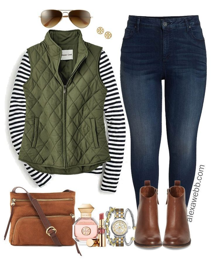Plus Size Preppy Fall Outfit 9