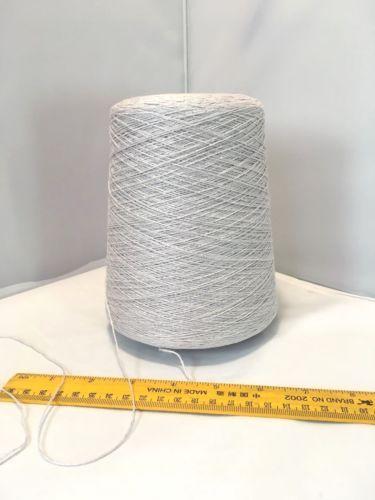 Yarn-Italian-Cariaggi-54-LI-42-CO-4-LURE-Light-Gray-color-560-grams-Cones