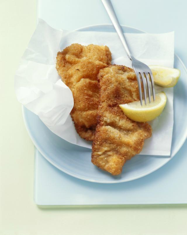 how to cook chicken schnitzel in oen