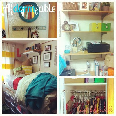 Cute dorm ideas/organizational ideas! www.heartandscholl.blogspot.com