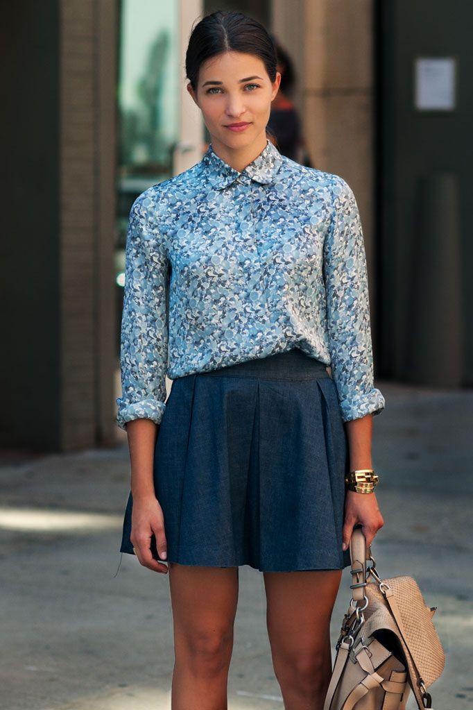 MARIA DUEÑAS JACOBS  Accessories Editor, Glamour Magazine U.S.    -Stella McCartney Top  -H Skirt  -Reed Krakoff Bag