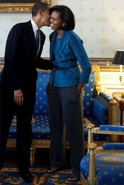 President Barack & 1st Lady Michelle Obama