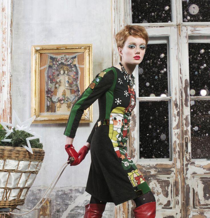 30% Christmas couture dress maneki neko glamour by NATIPUREIDEA