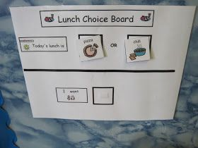 The Autism Tank: Lunch Choice Board