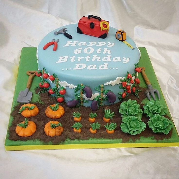 Alockments/electrician #cake #cakeartist #theme #garden #gardencake #thejestercakery