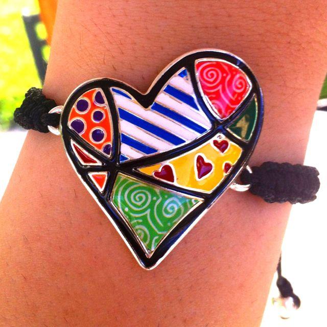 Romero Britto Heart ❤ #bracelets #ThePolishBoutique