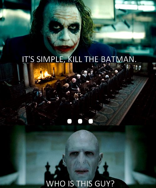 What are some similarites between the Joker, Hera (from Hercules) and Voltemort from Harry Potter?