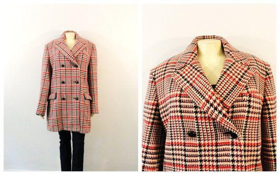 Vintage Coat Men's Out O' Gloucester Double Breast Plaid Pea Coat 60s 70s #OutOGloucesterMightyMack #Peacoat #vintagecoat #vintage #plaidpeacoat #plaidcoat #vintagestyle #mensvintage #vintagemen #madmen #2sweet4wordsVintage #2sweetStyle #sale #vintagesale