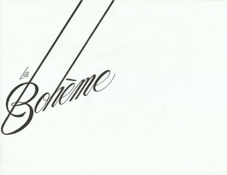 La boh me typography pinterest - La boheme definition ...
