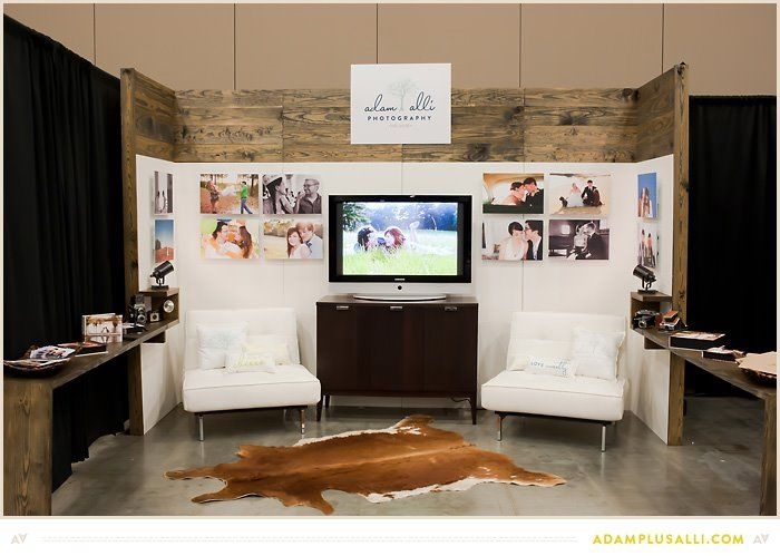 d+p design build: Trade Show Booth for Adam + Alli Photography                                                                                                                                                                                 More