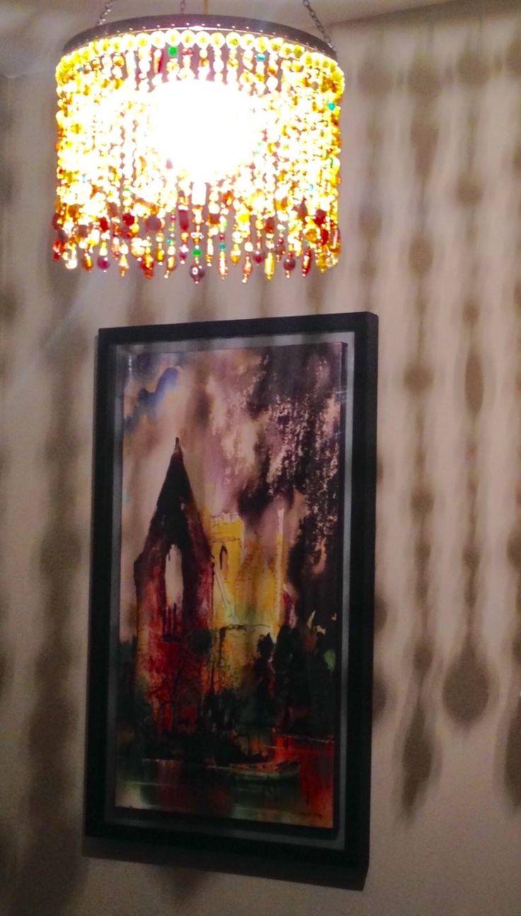 Lighting, bead chandelier, boncuk avize