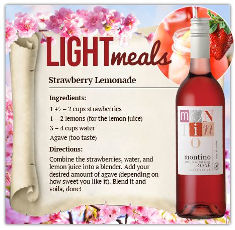 As the days become longer and the nights shorter, celebrate by being good to yourself. #LightMeals #Spring #stawberrylemonade #lemonade