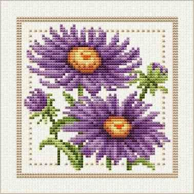 Cross Stitch Charts Download | Good Life 2 Go: Free Cross Stitch Chart: Flower of the Month - Aug to ...