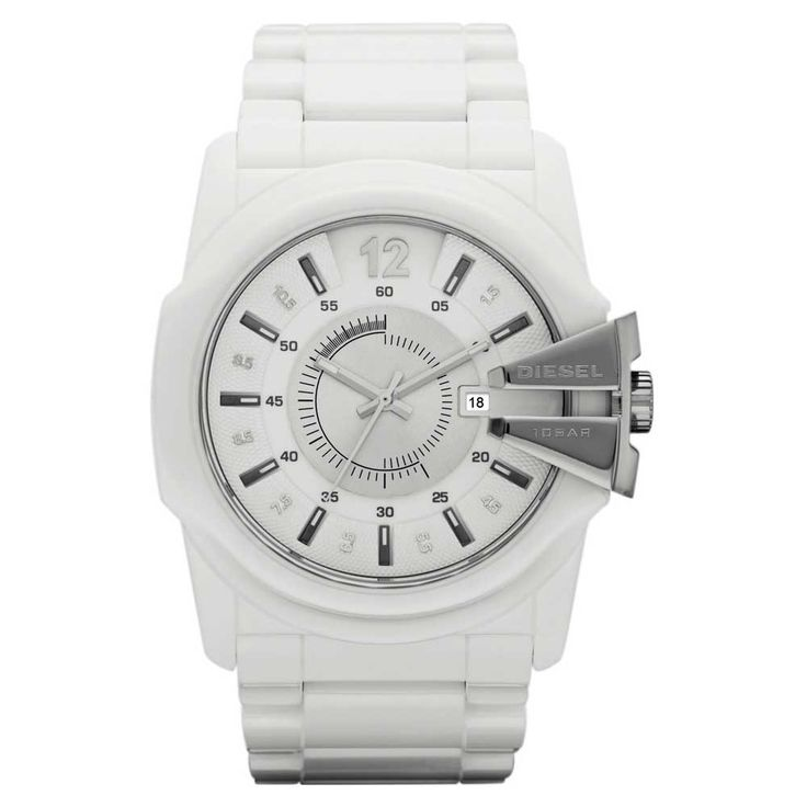 Diesel Mens White Ceramic Analog Watch DZ1515