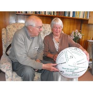 Our Toss and Talk Balls are one of our most popular music activities for people with dementia and  are an ideal combination of exercise and communication and therefore are suitable for a wide range of people, including those with Alzheimer's and adults with learning or physical disabilities.