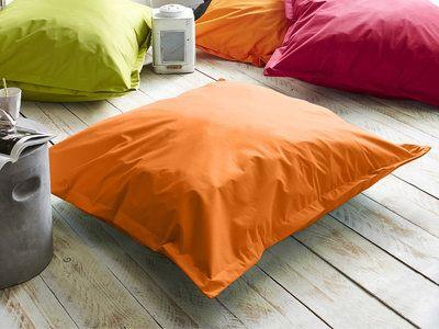 Pouf carré intérieur/extérieur polyester résistant à l'eau uni 100x120x35cm BIG COUSSIN