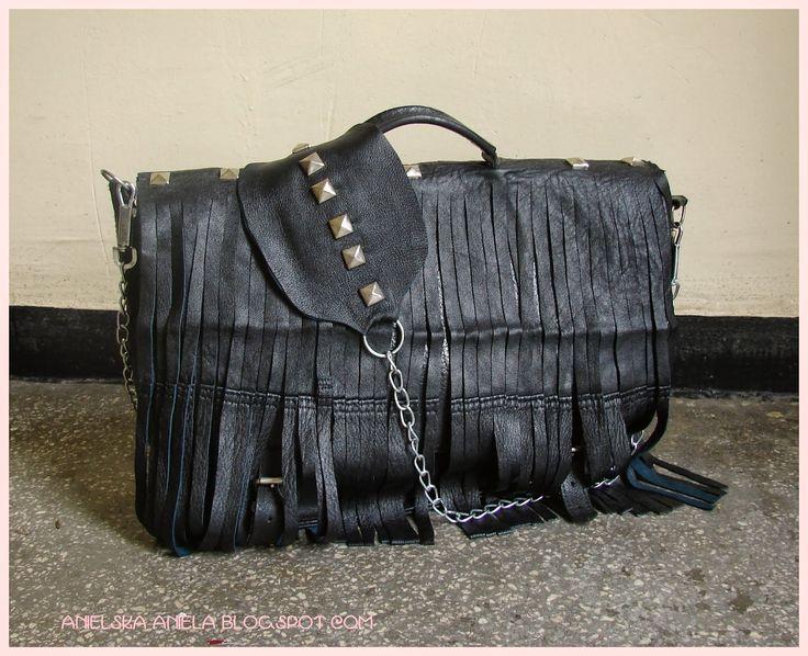 DIY TUTORIAL..leather fringe handbag..satchel..torba z frędzlami jak zrobić torbę z frędzlami ?DIY