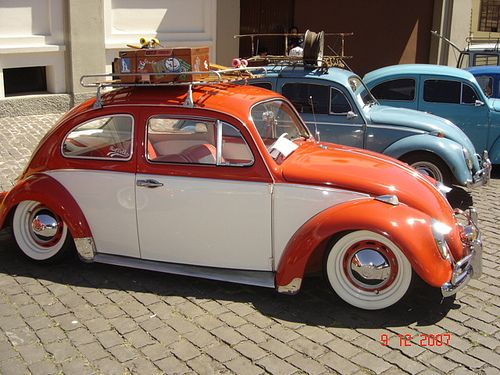 1963 vw beetle orange and white i do so very much want a nifty car like this when i can drive. Black Bedroom Furniture Sets. Home Design Ideas
