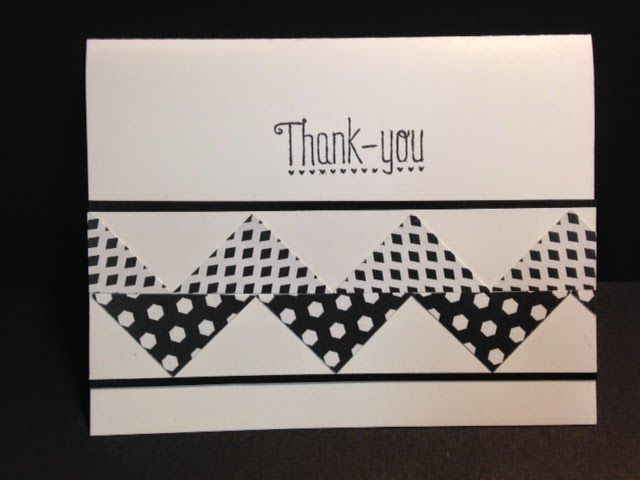 Another Thank You, Chevron Technique, Stampin' Up!, Handmade Cards, Stamping Techniques, Rubber Stamping
